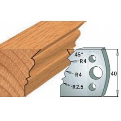 Комплекты ножей и ограничителей серии 690/691 #107 CMT Ножи и ограничители для фрез 40 мм Ножи