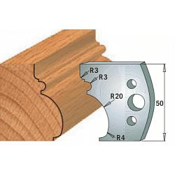 Комплекты ножей и ограничителей серии 690/691 #501 CMT Ножи и ограничители для фрез 50 мм Ножи