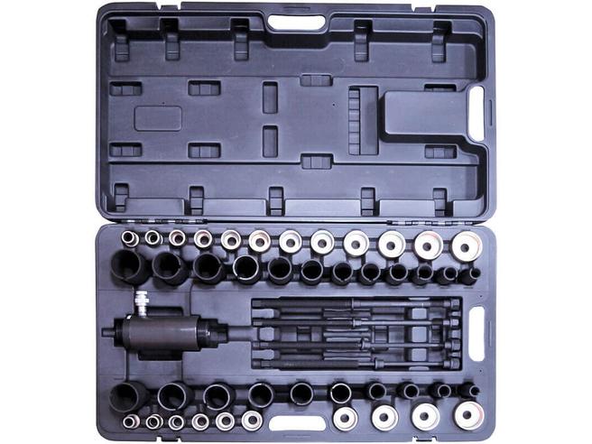 Набор для выпрессовки и запрессовки сайлентблоков гидравлический Сорокин 40.33 (18т, 49 предметов) Сорокин Ручной Инструмент
